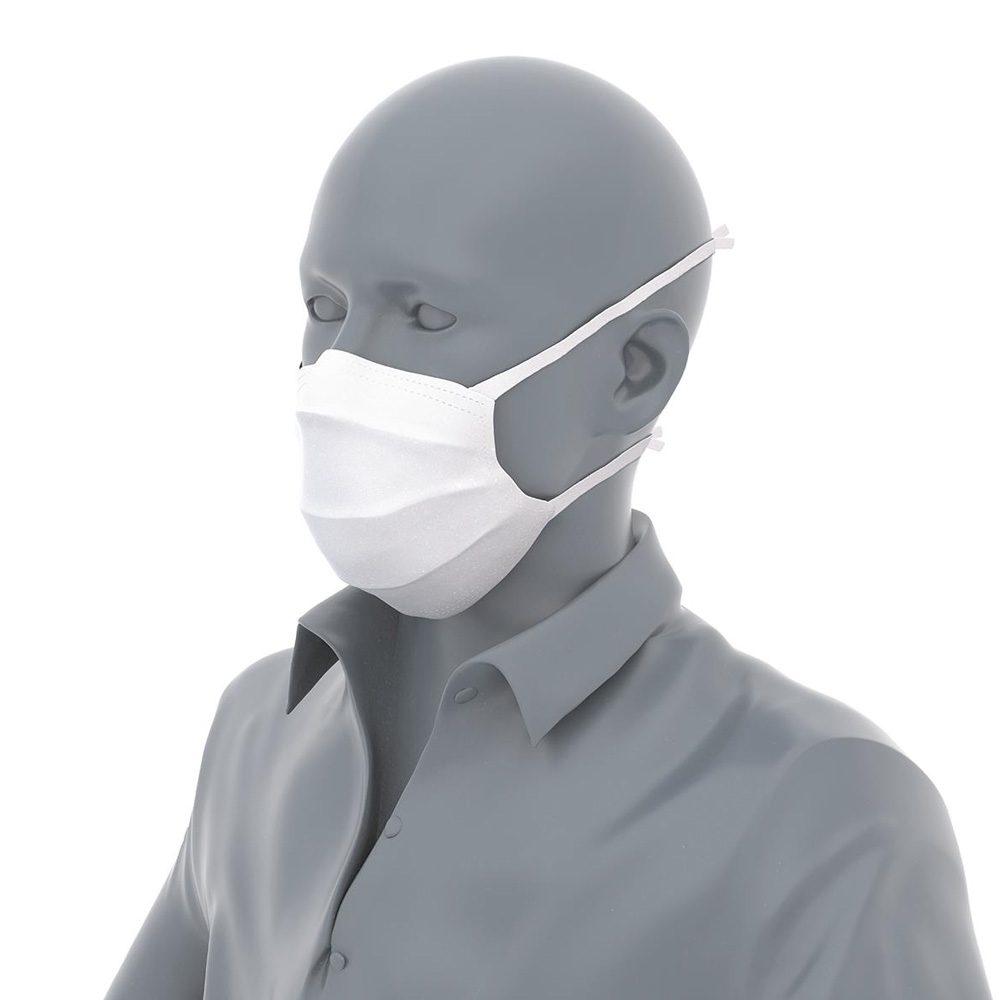 Puppe mit Mund Nase Maske zum Binden