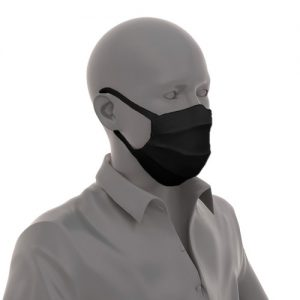 Puppe-mit-Mund-Nase-Maske-mit-Gummizug-Schwarz